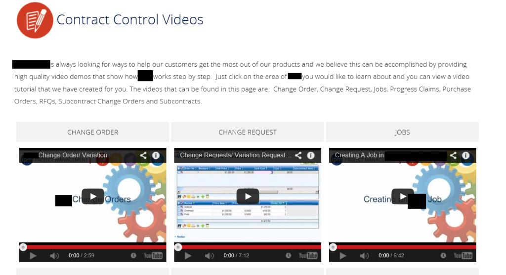 Contract Control Videos