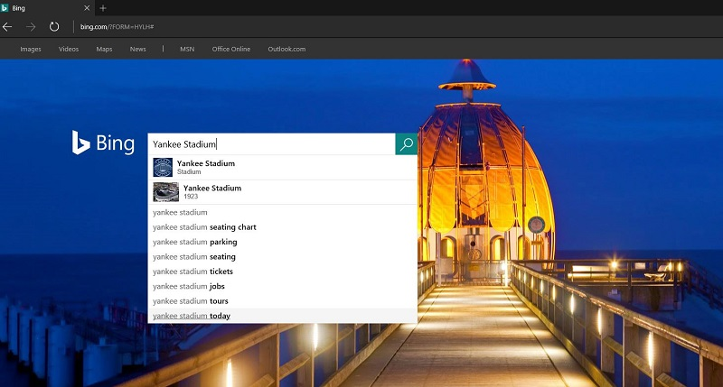 Search on Bing for Image Search
