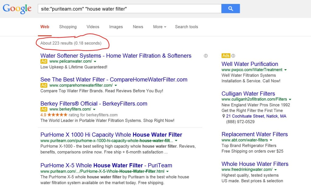 site command in google