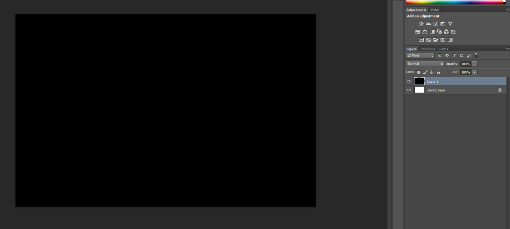 Image is now a solid black color