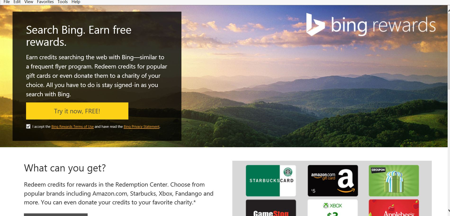 Bing rewards click here also as a click for details bing rewards