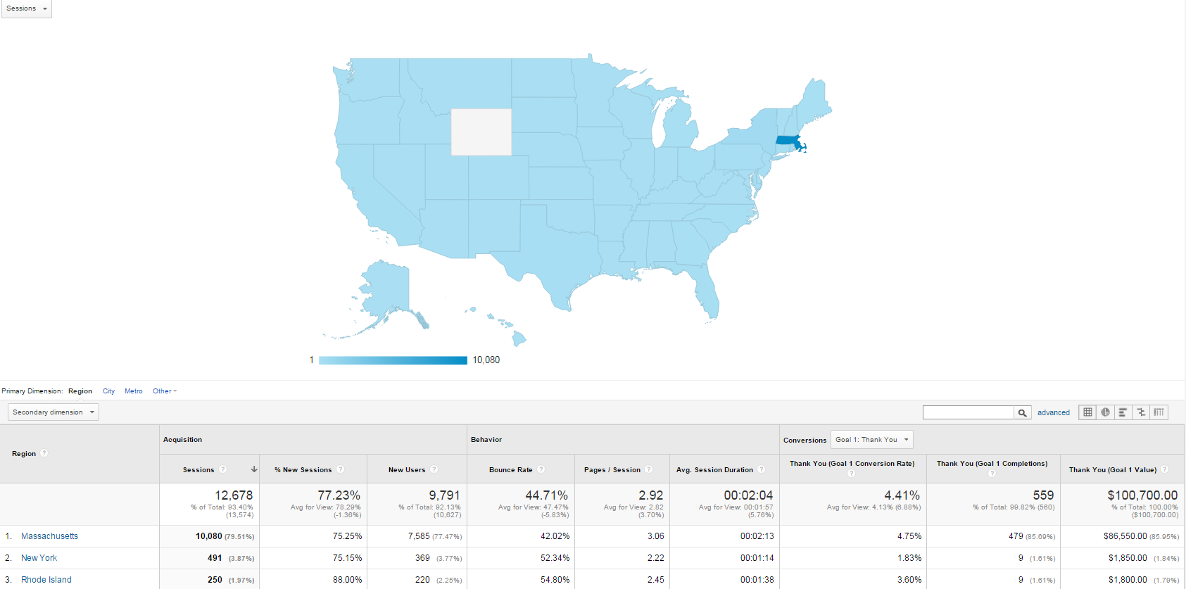 Location Mapping in Google Analytics