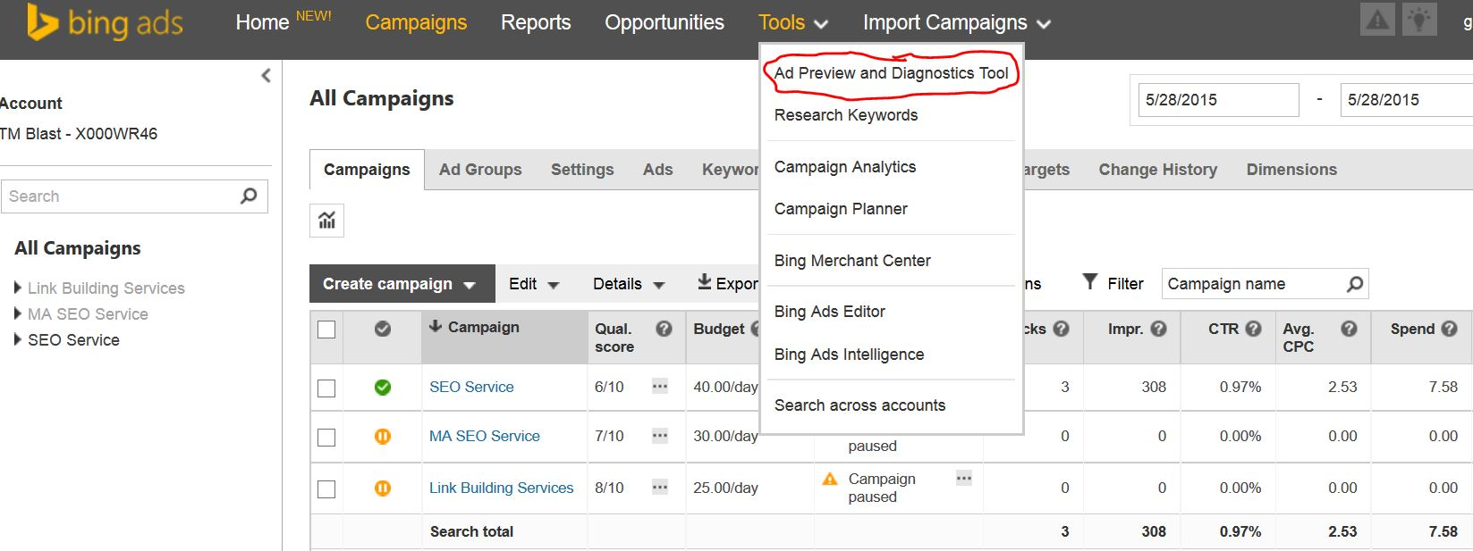 Ad Preview and Diagnostics Tool in Bing Ads