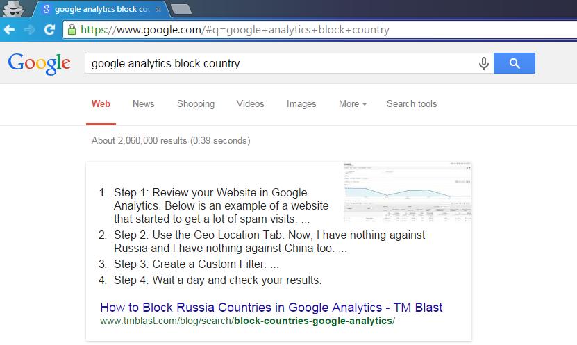 Google's Answer Box Greg Kristan TM Blast