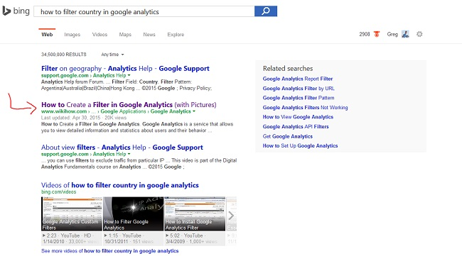 Something Outranking me in Bing