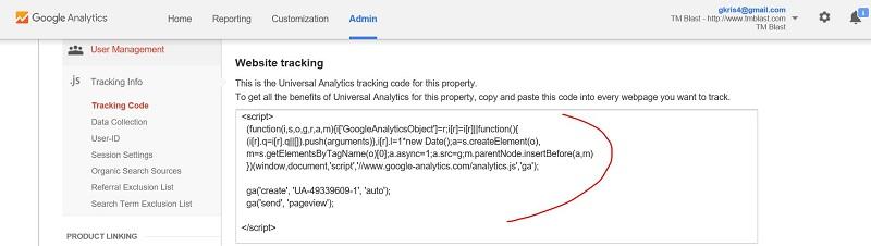 Google Analytics Code for WordPress Tracking Tutorial