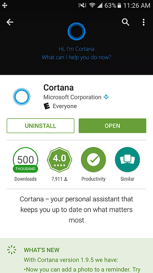 Download Cortana for Android