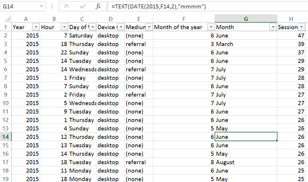 excel file with a formula