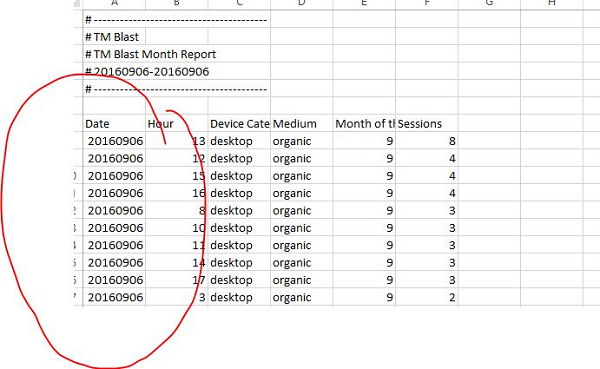 Long Date in Excel from Google Analytics
