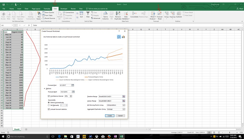 how to forecast quickly in excel for office 365