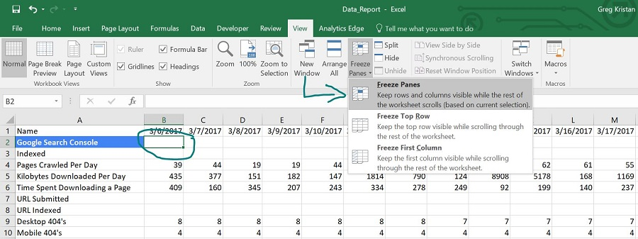 How to Freeze Both Rows and Columns in Excel
