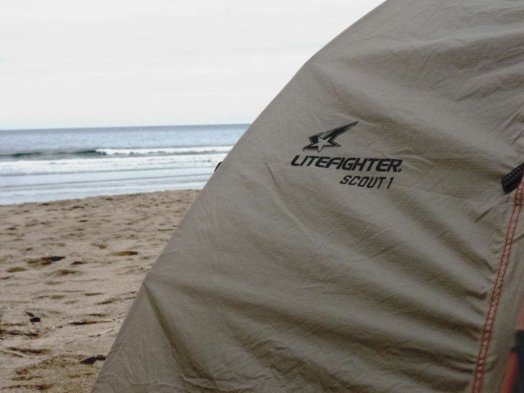 scout 1 tent on beach
