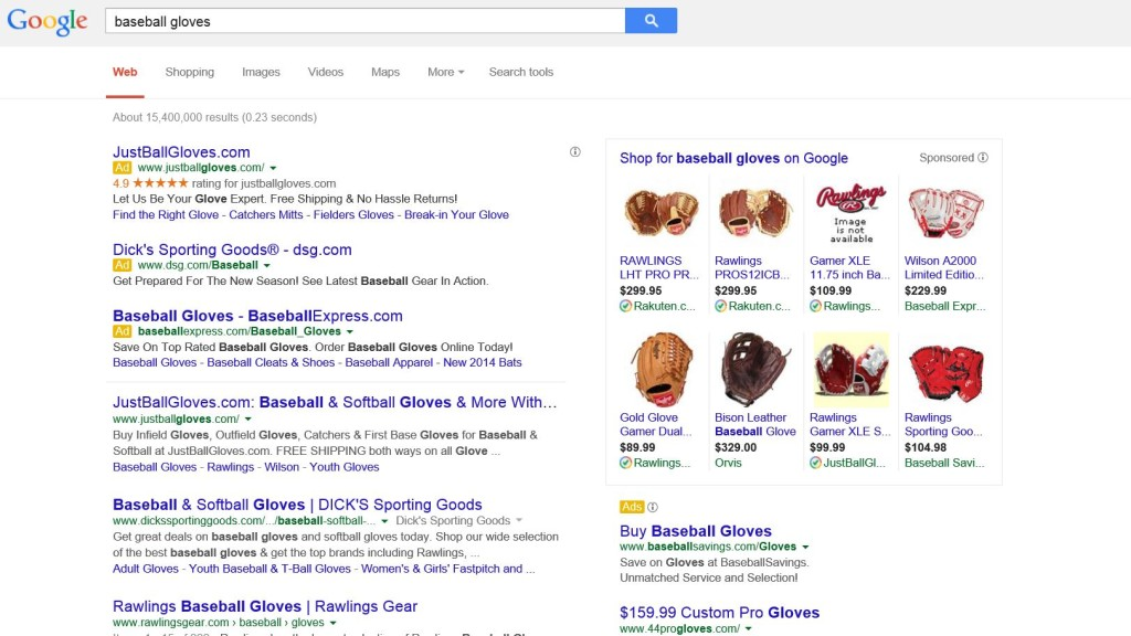 Google Search Baseball Gloves