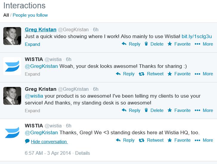 Wistia Tweets