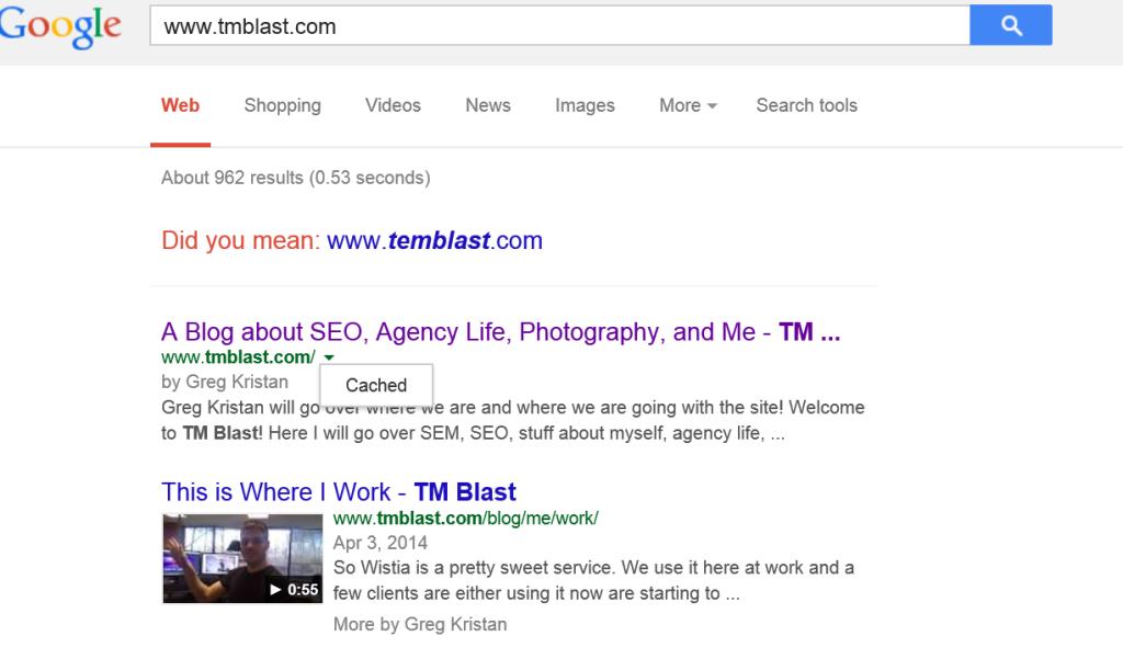 TM Blast in Google