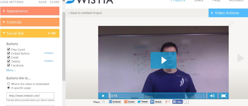 Wistia Customize the social bars, Greg Kristan