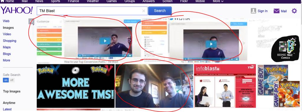 Yahoo TM Blast Image Search