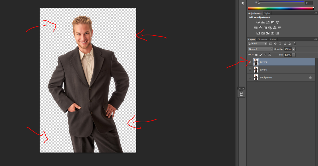 Step 2, Have your image just on a transparent background