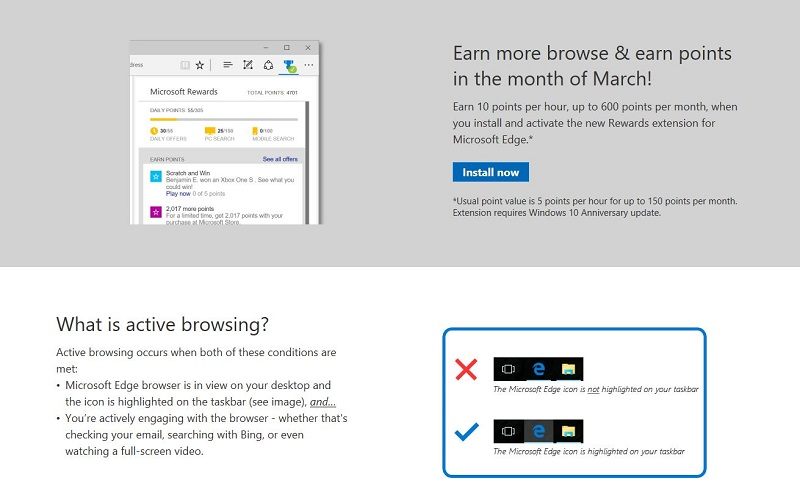 Microsoft Rewards Extension