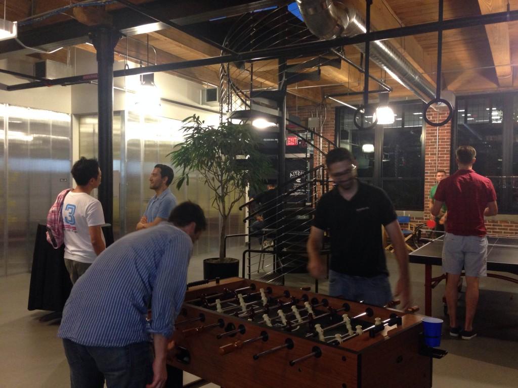 Foosball and Ping Pong at Wistia