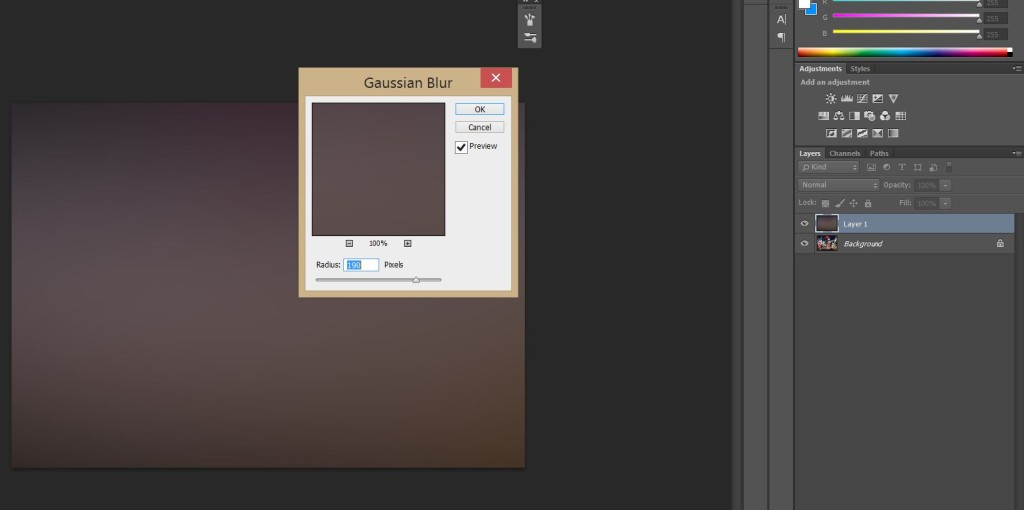 Gaussian Blur as the next step