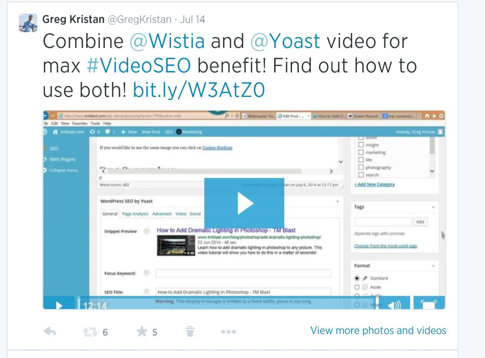 Yoast and Wistia for video SEO