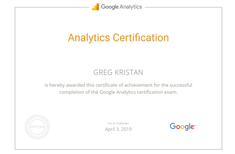 Google_Analytics_Certification_Greg_Kristan_TM_ Blast