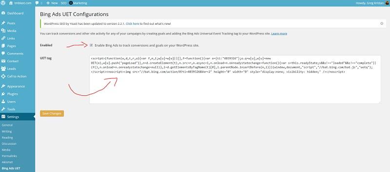 Bing-Ads-UET-Configurations