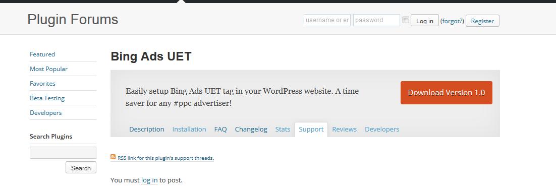 Bing Ads UET Plugin in WordPress