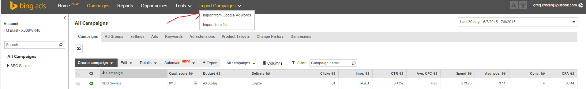 How to Import Your Google AdWords Account into Bing Ads