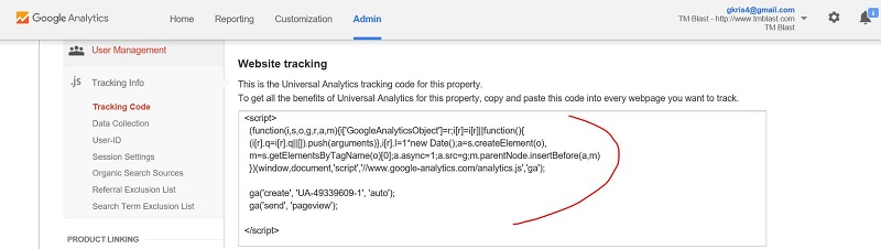 Google Analytics Code for WordPress Tracking Tutorial