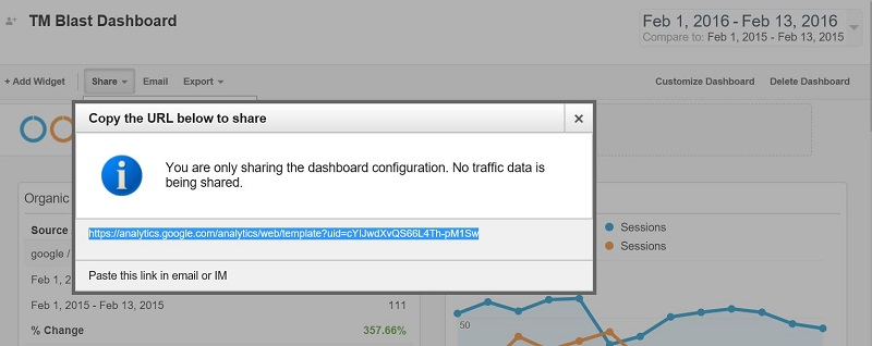 Share a Custom Dashboard in Google Analytics