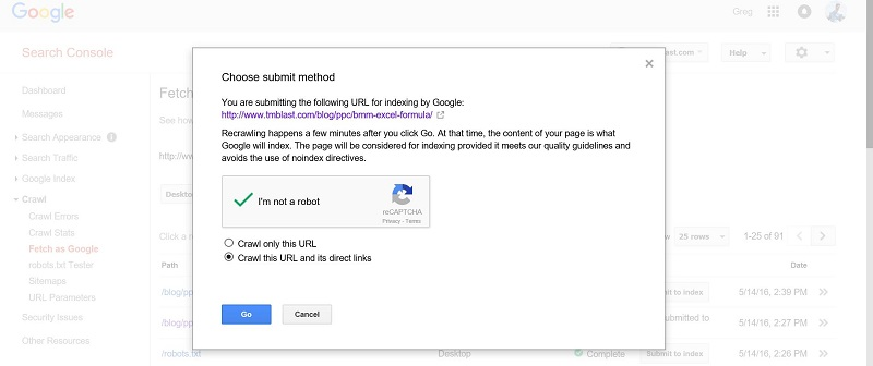 Choose a Submit Method in Google