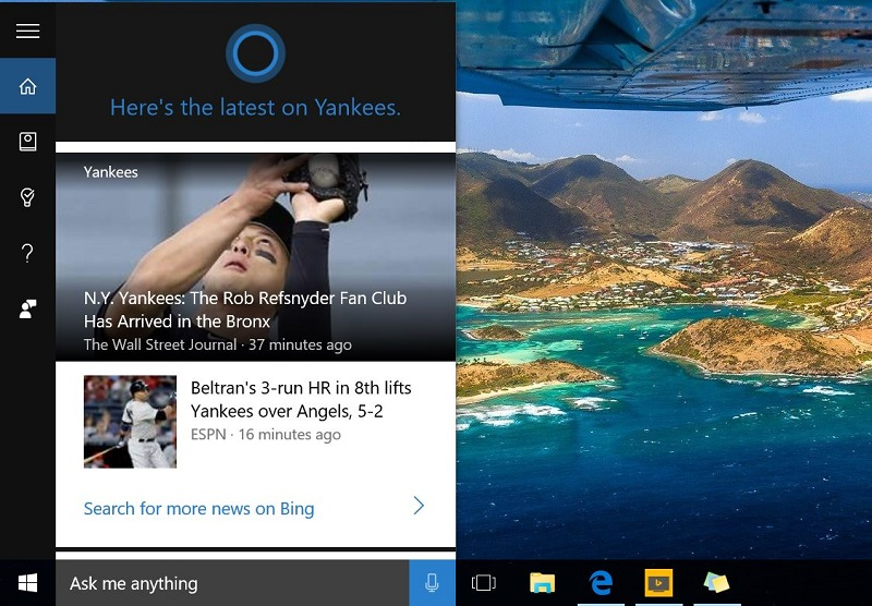 Cortana Windows 10 My Notebook
