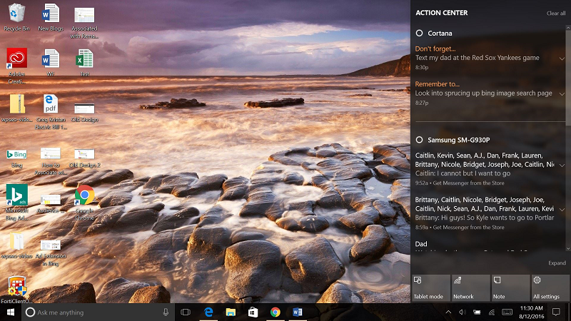 Cortana and Android with Windows 10 Laptop