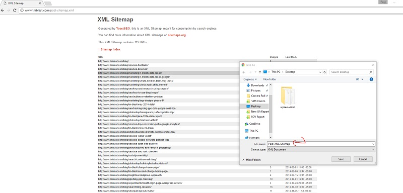 how to save your sitemap as a file