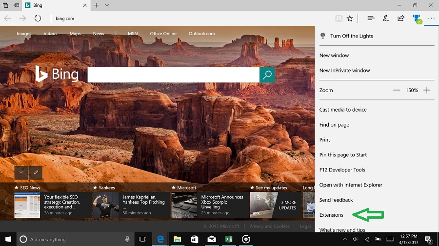 Extensions in Edge