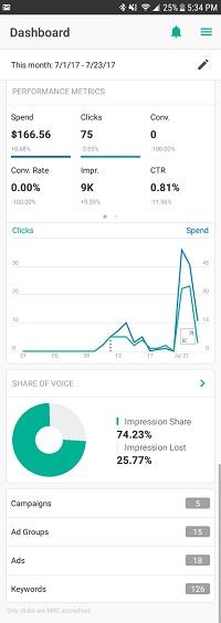 Bing Ads Mobile App
