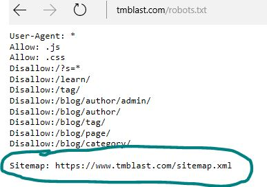 Sitemap in the Robots.TXT File