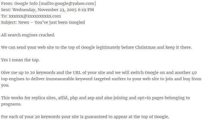 Example of SEO Spam Guarantee