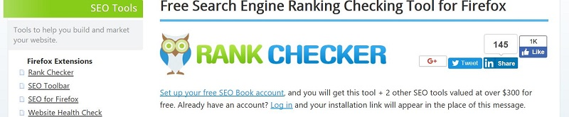 Rank Checker Mozilla FireFox Keyword Ranking Tool