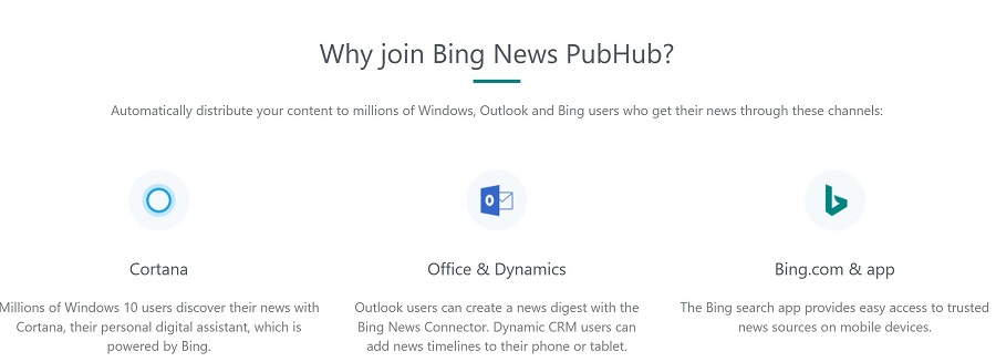 Bing News PubHub