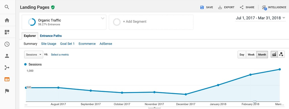 SEO Success Story in 2018