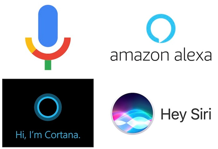 Voice Search Services like Google Home, Alexa, Cortana, and Siri
