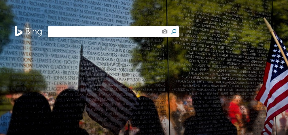 Bing Search Engine Memorial Day 2019