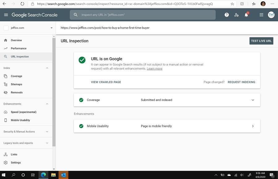 Green Check Mark in Google Search Console SEO Fix