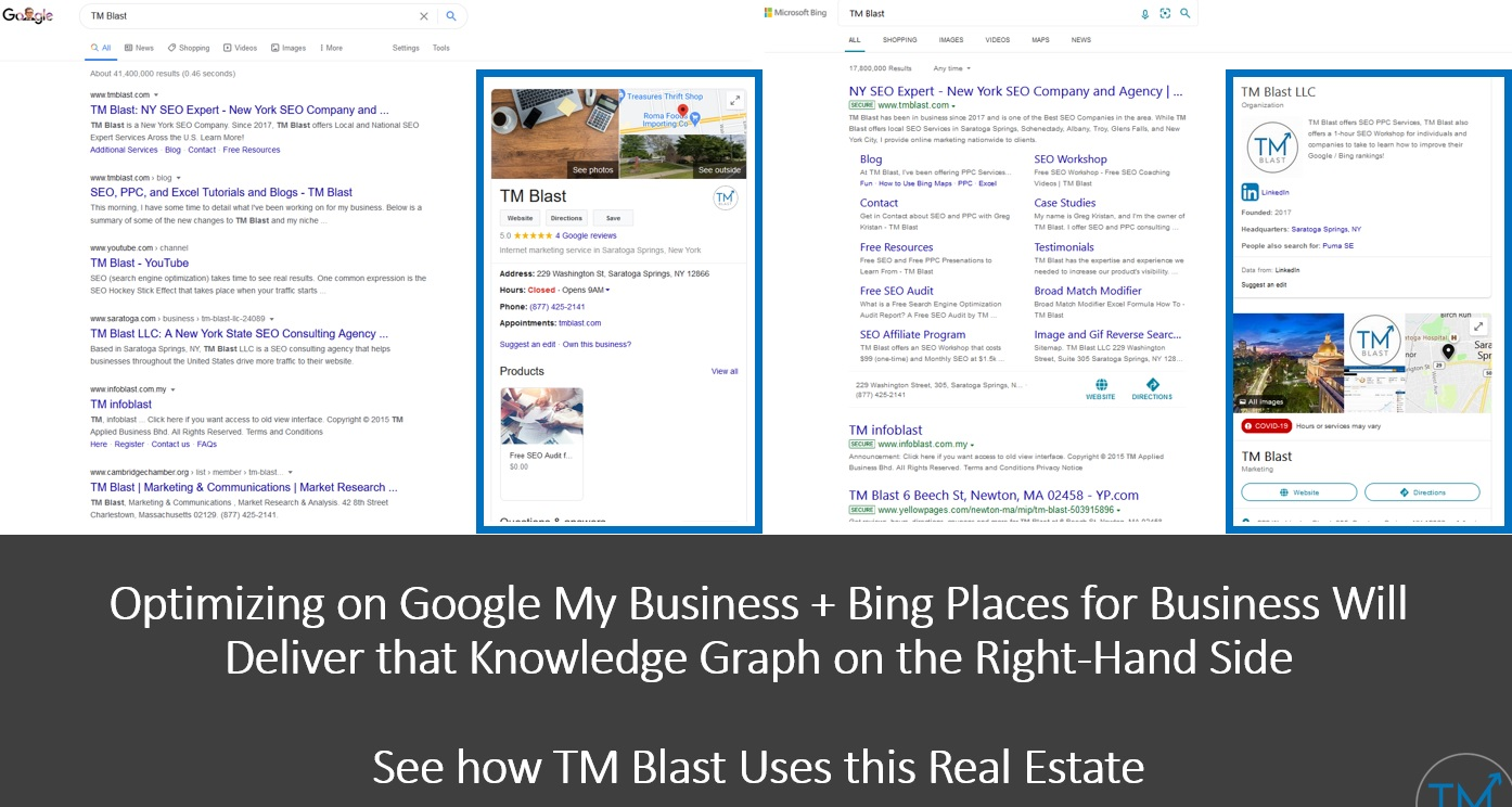 Ranking Locally in Google and Bing